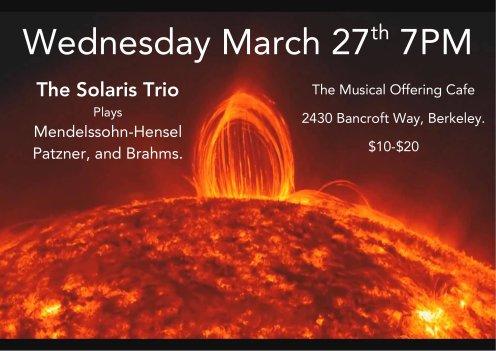 Solaris Trio Poster